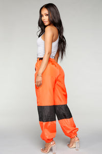 Love Lockdown Flight Joggers - Orange Angle 4