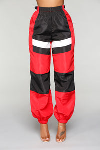 Love Lockdown Flight Joggers - Red/Black