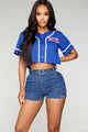 Playing For Keeps Jersey Top - Royal/Combo