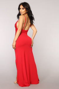 High Street Dress - Red
