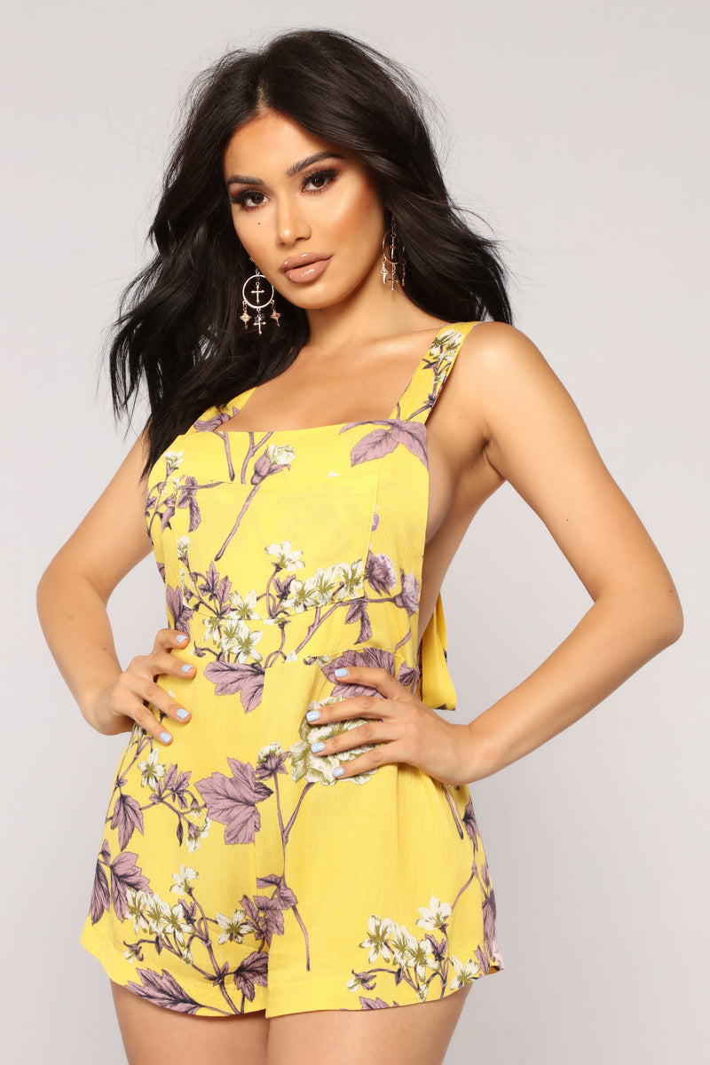 Ashbury Park Floral Romper - Yellow Floral