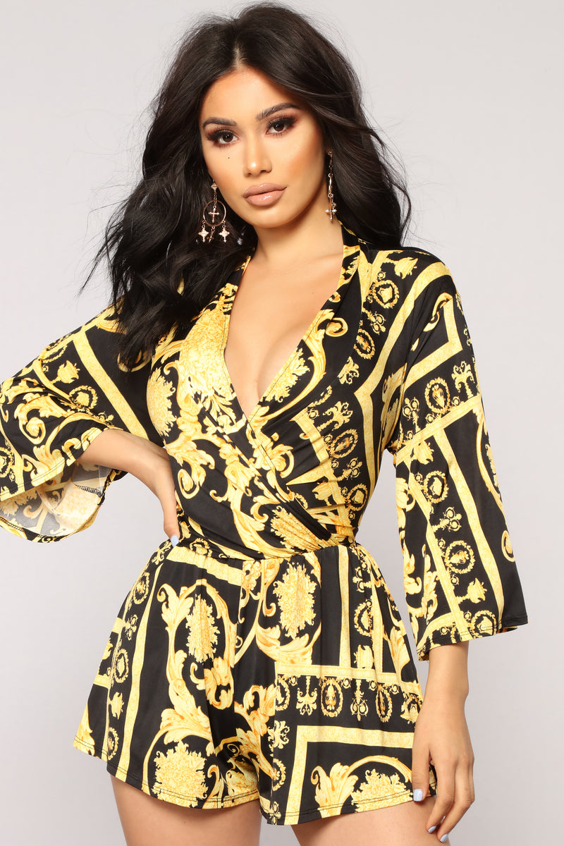 That's Me Romper - Black/Yellow