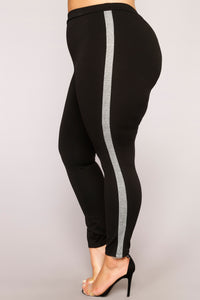 Best Of The Best Stripe Pants - Black