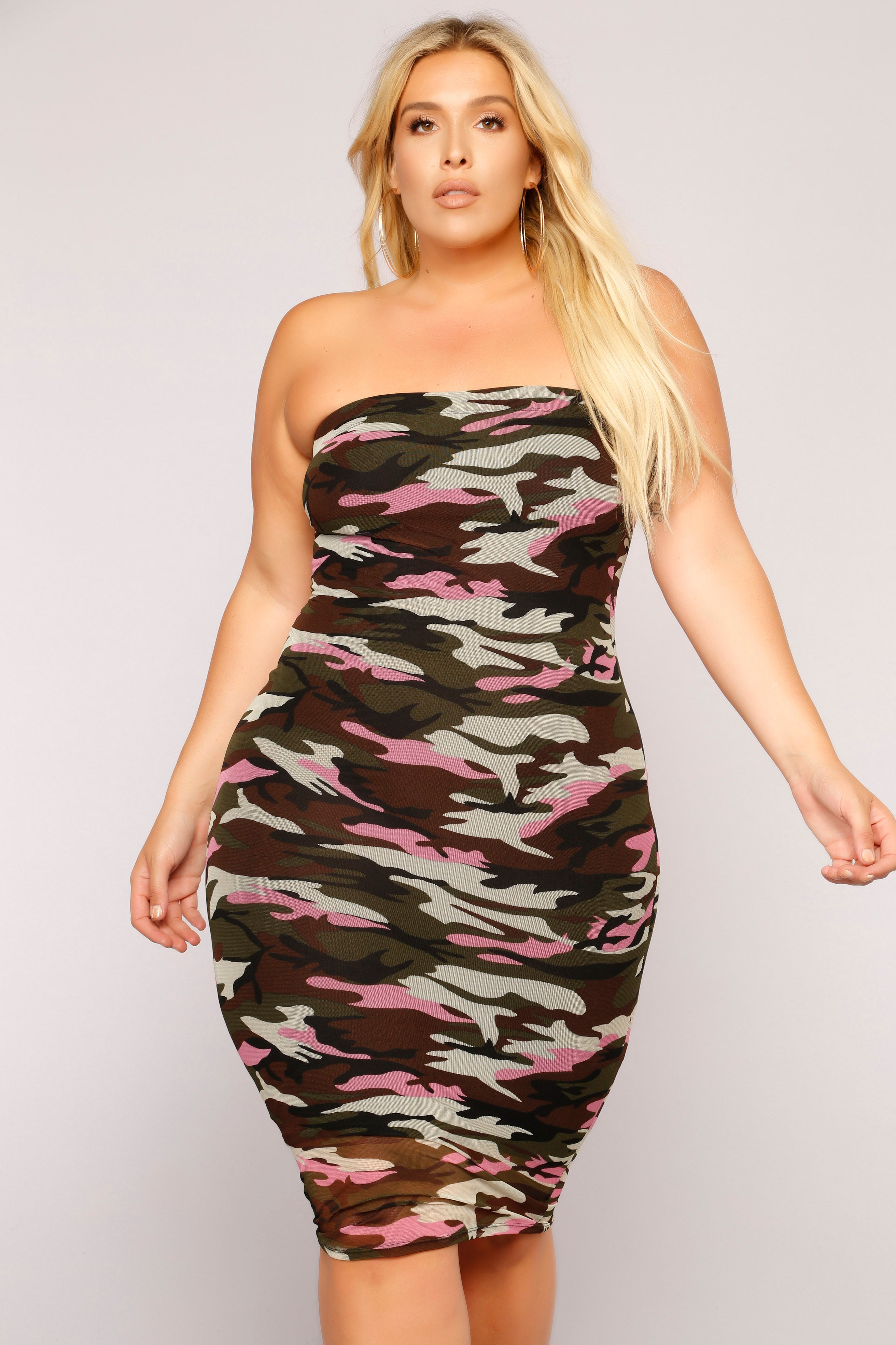 c7eb1903fe4 Fightin  Chance Tube Dress - Pink Camo · plus-size
