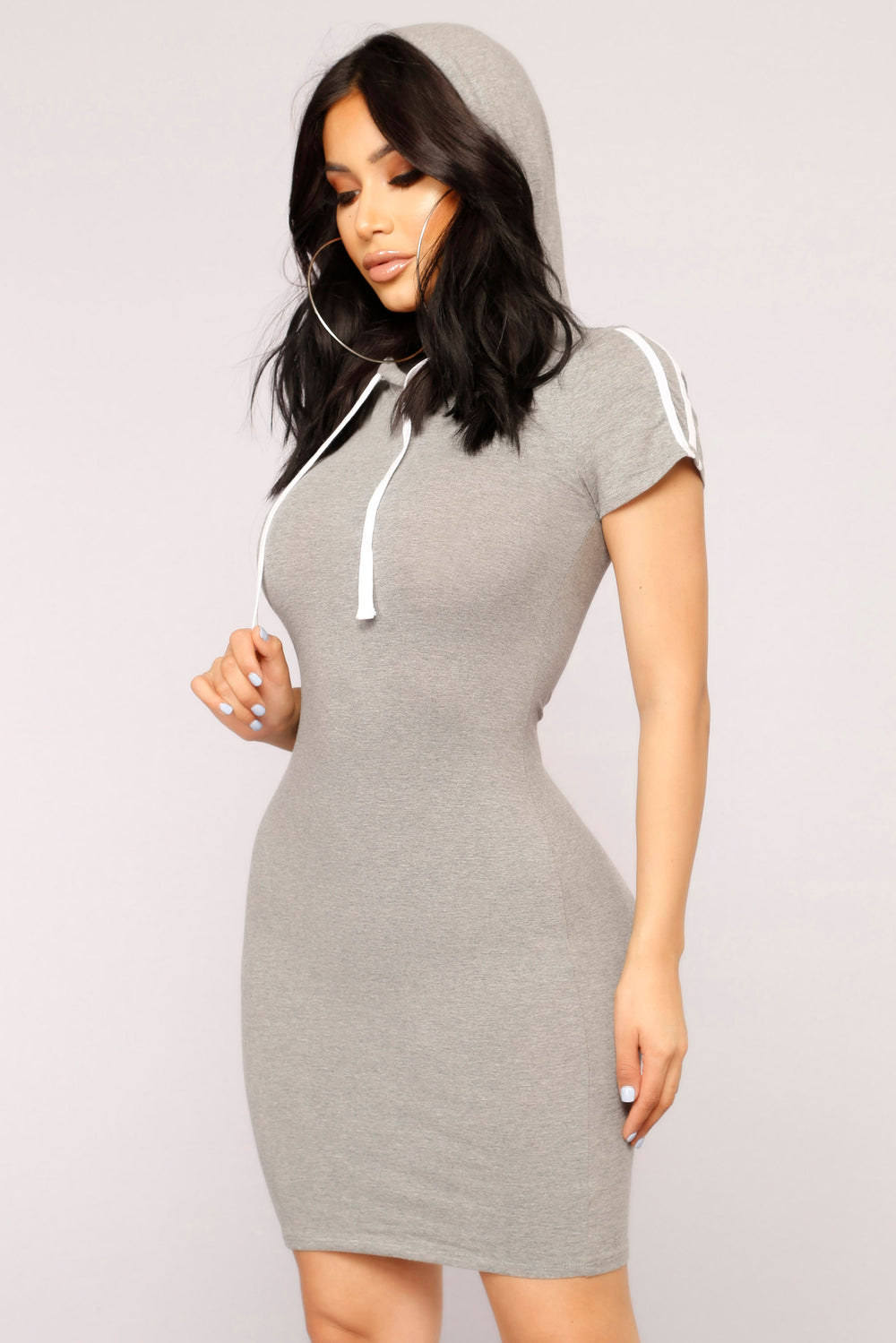 Get Stripe To It Dress - Grey