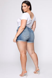 Stella Mid Rise Denim Short - LightWash