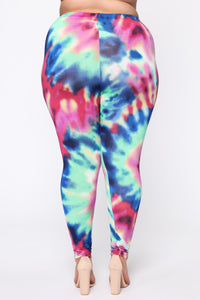 My Colorful Life Leggings - Royal/combo