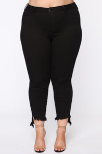 All Night Long High Rise Skinny Jean - Black Angle 2