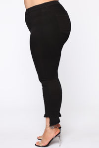 All Night Long High Rise Skinny Jean - Black Angle 3