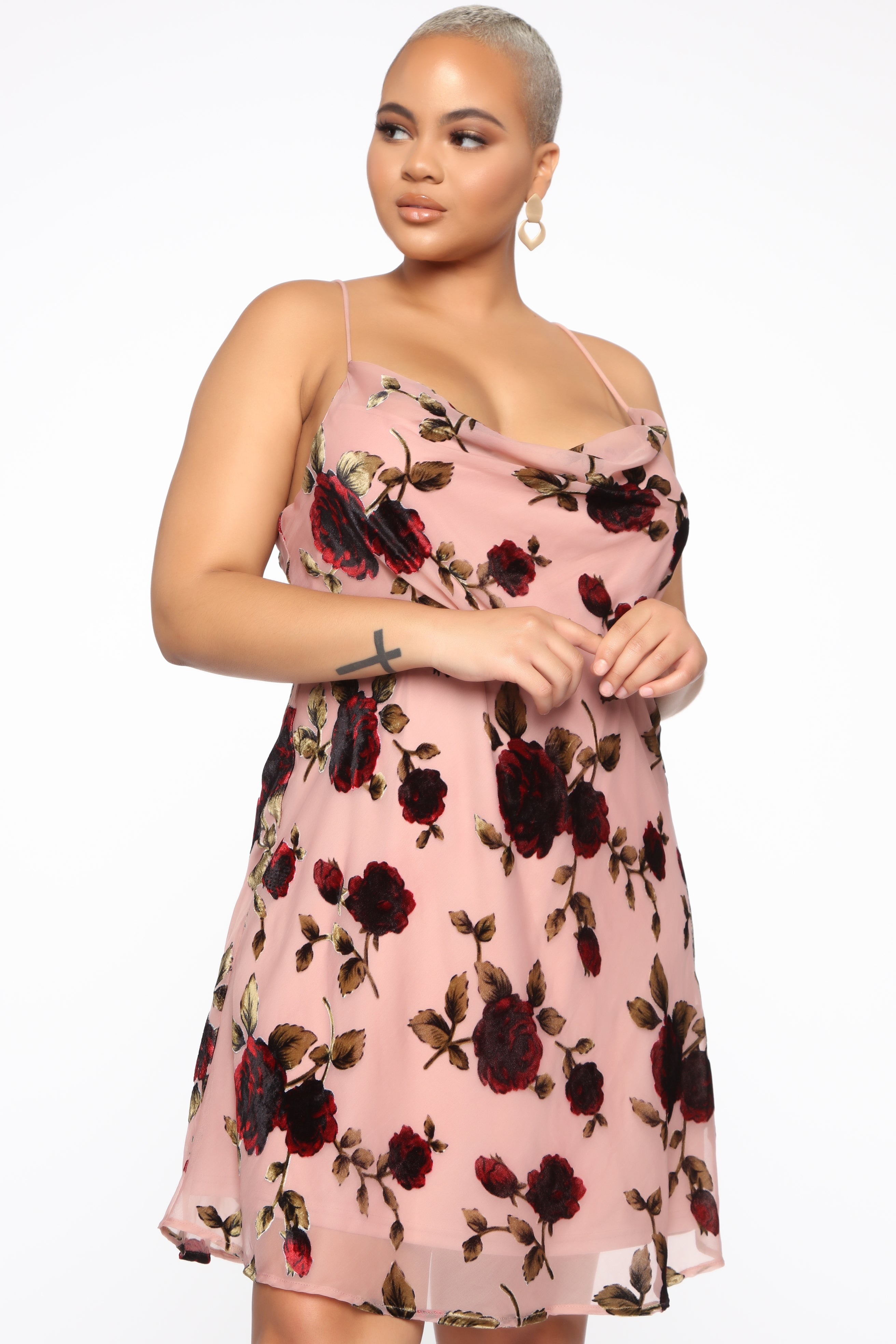 93c26781c31d Heated Love Floral Mini Dress - Mauve