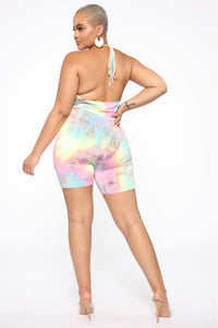 Standing Out Tie Dye Romper - Multi Color