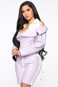 Come Through Drippin' Jacket - Lavender/Combo Angle 3