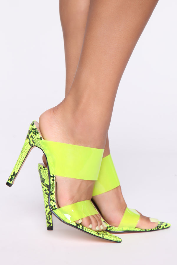 1ebd1e2cd Call Me Maybe Heeled Sandals - Neon Yellow