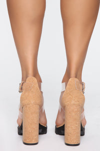 Well Aware Heeled Sandals - Cork