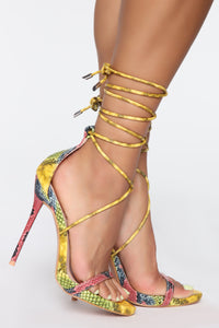 Worth Fighting For Heeled Sandals - MultiColor Snake