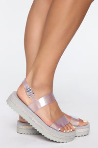 Looking For You Flat Sandal - Silver