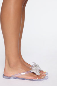 Oh You Cute Flat Sandals - Clear Angle 3