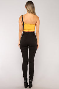 While We're Young One Shoulder Top - Mustard