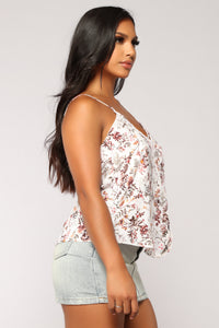 I Sing In Floral Top - Ivory/Multi