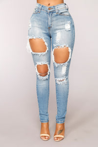 Natalie High Rise Jeans - Medium Blue Wash