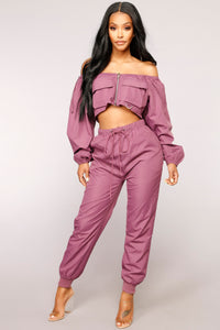 Ride Or Die Lounge Set - Purple
