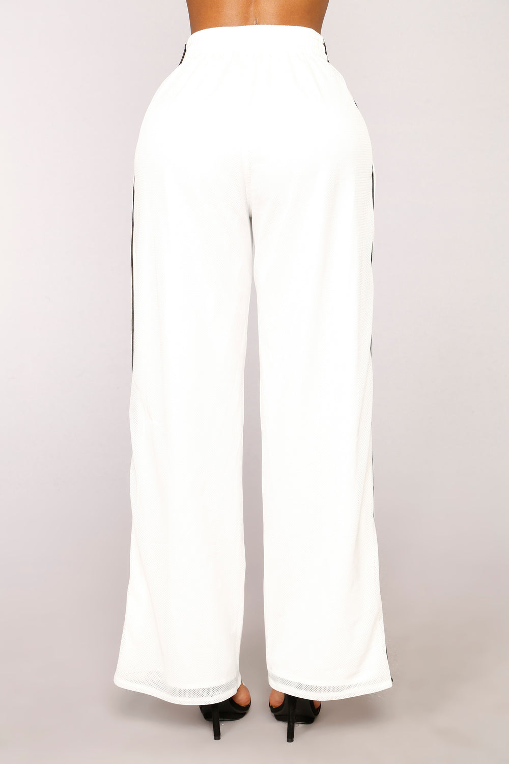 Snap To It Snap Button Pants - White
