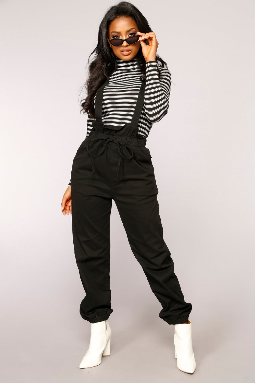 Orabelle Strap Pants - Black