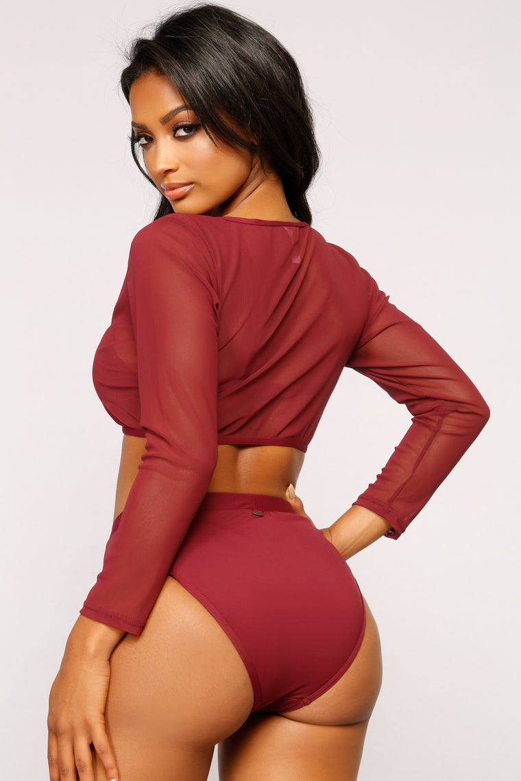 Beach Goddess 3 Piece Set - Burgundy