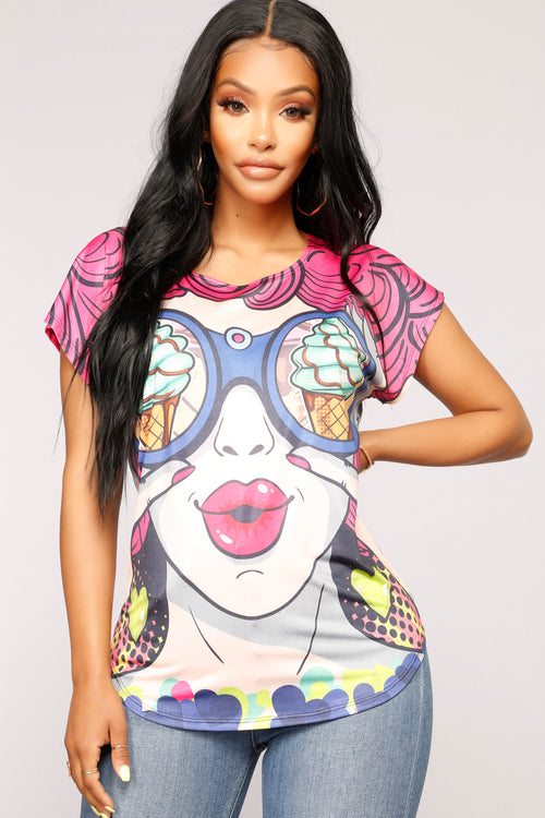I Scream For Ice Cream Top - Multi