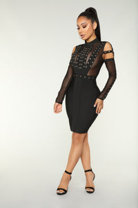 Rosie Bandage Dress - Black