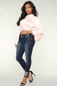 Beau Long Sleeve Top - Pink