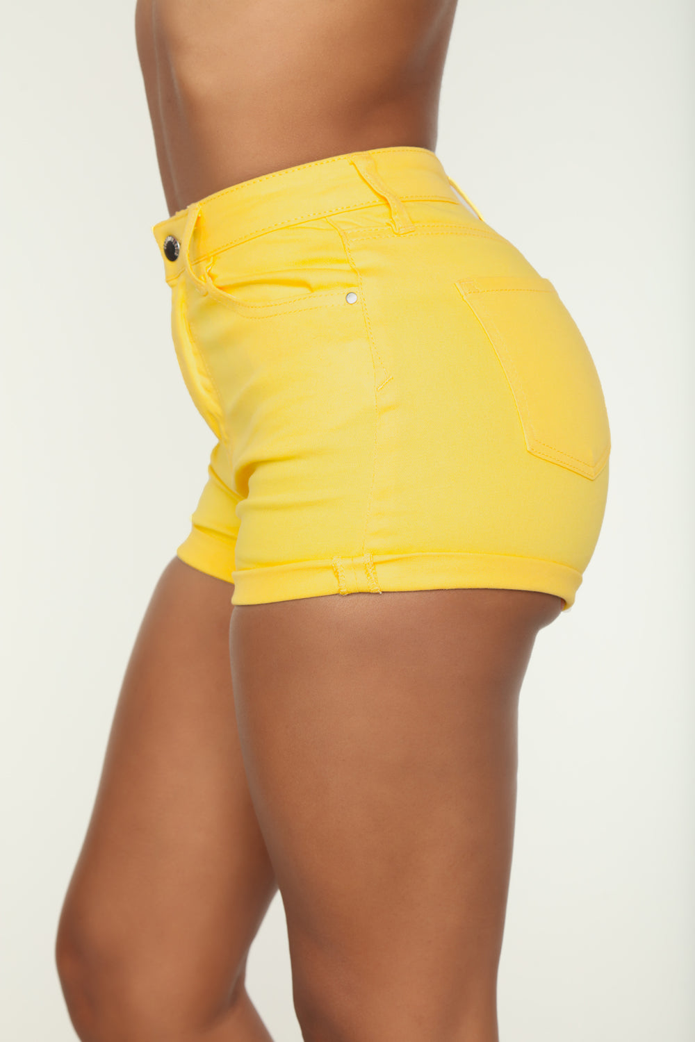 Sunshine High Rise Short - Yellow