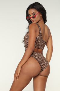 Animal Instincts Swimsuit - Leopard Angle 2
