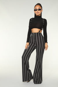 Stripe Me Up Pants - Black
