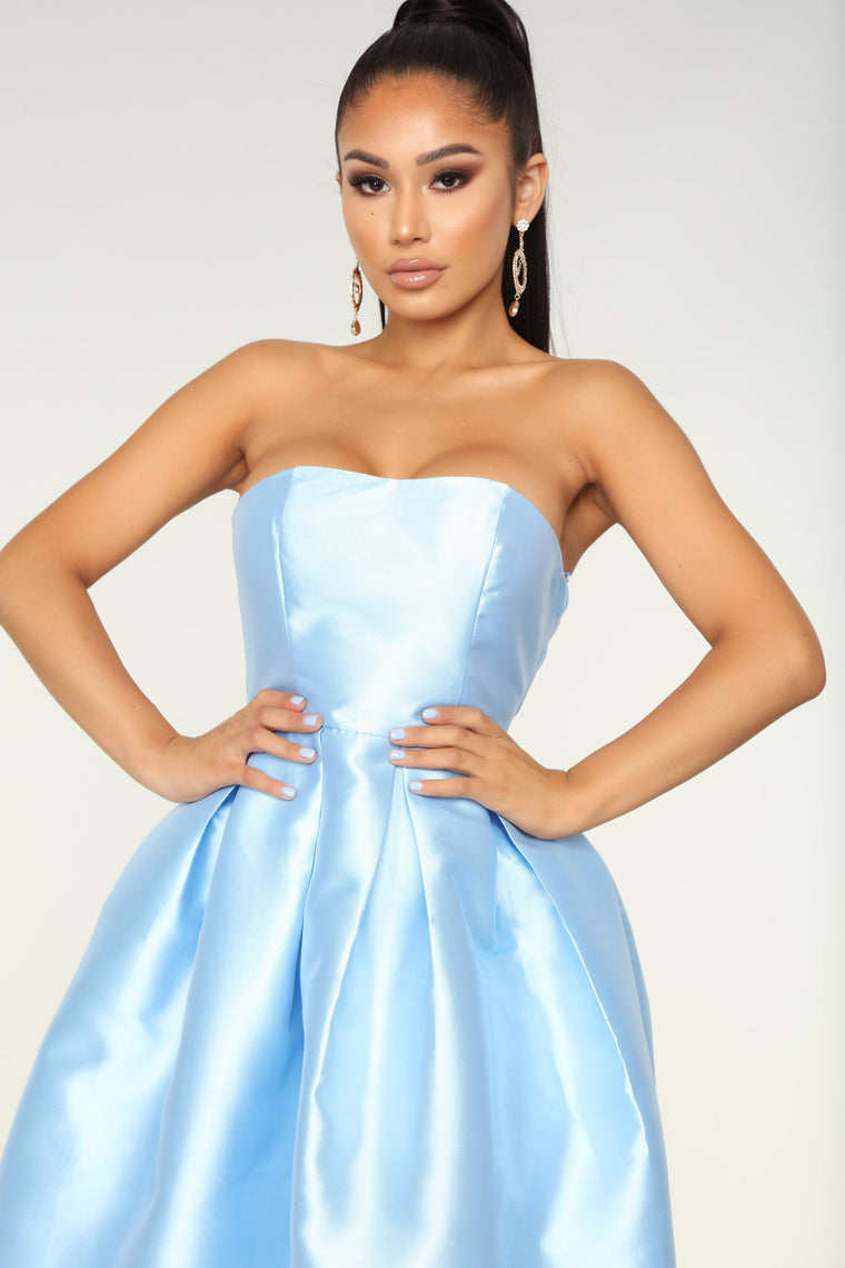 Rise To The Occasion Dress - Light Blue