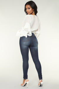 Hailey High Rise Jeans - Dark Denim