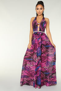 Grow With The Flow Tropical Dress - Purple