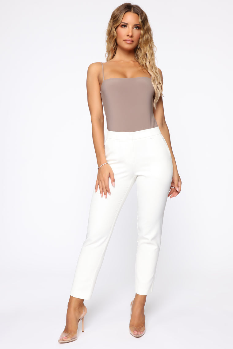 A Perfect Match Trouser Pants - White