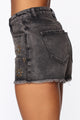 Desert Chick High Rise Shorts - Black