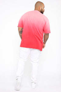 Came Through Dipping Short Sleeve Tee - Red Angle 10