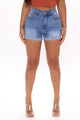 Dakota High Rise Denim Shorts - Medium Blue Wash