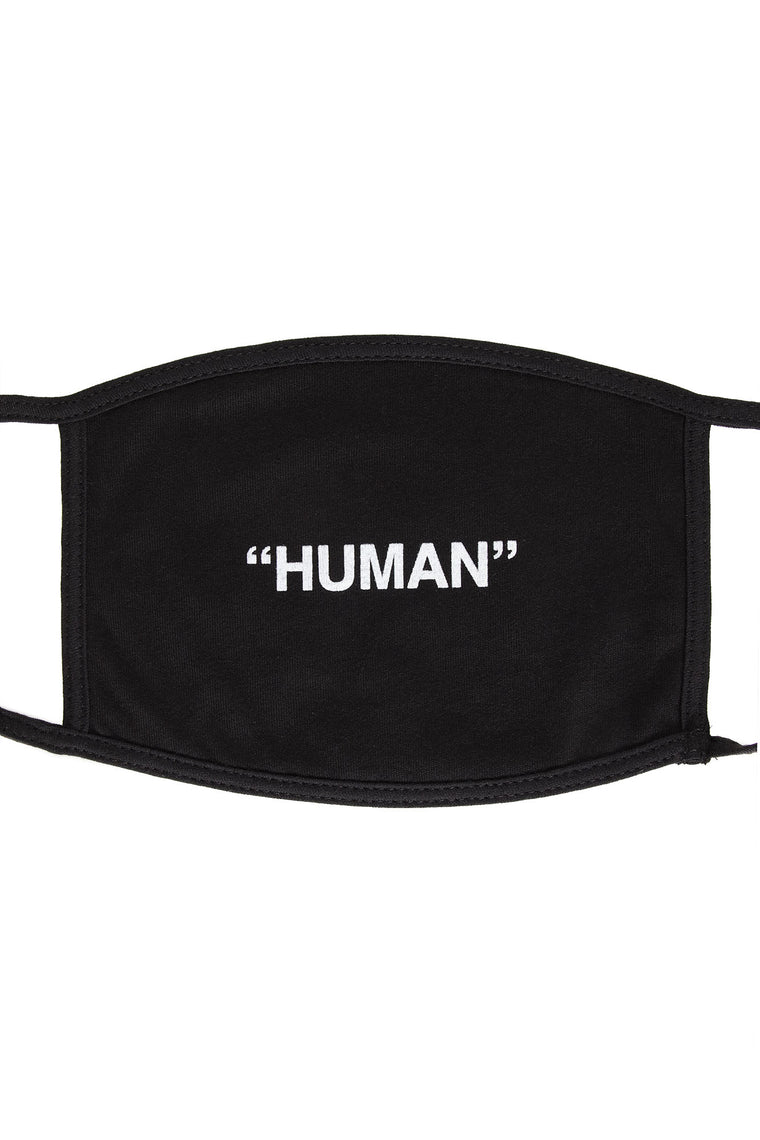 Human Face Mask - Black