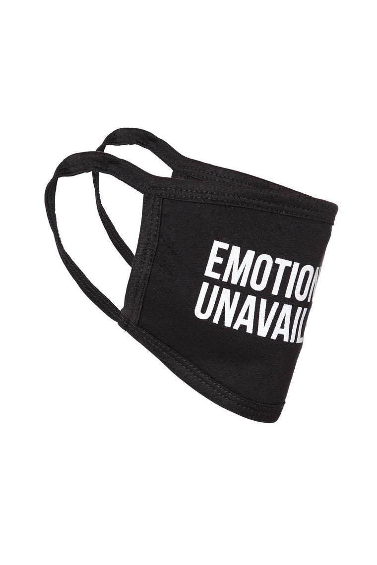 Emotionally Unavailable Face Mask - Black