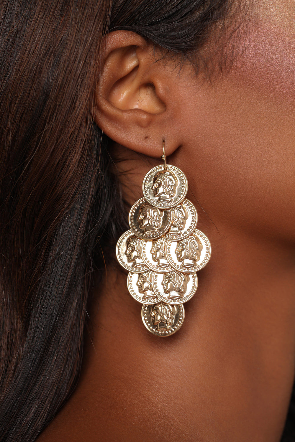 Making That Coin Earrings - Gold