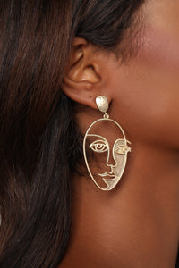 I Am The Art Earrings - Gold