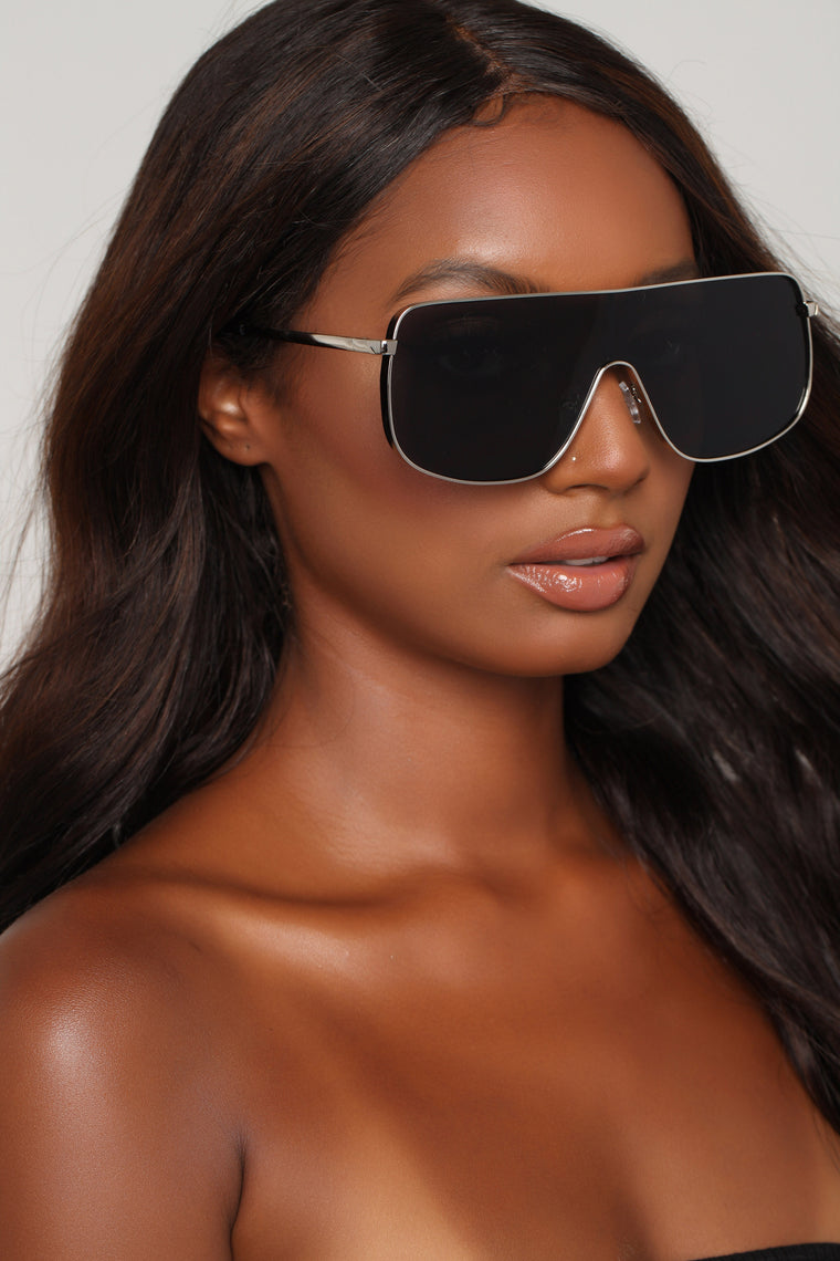 You Can't See Me Sunglasses - Black/Silver