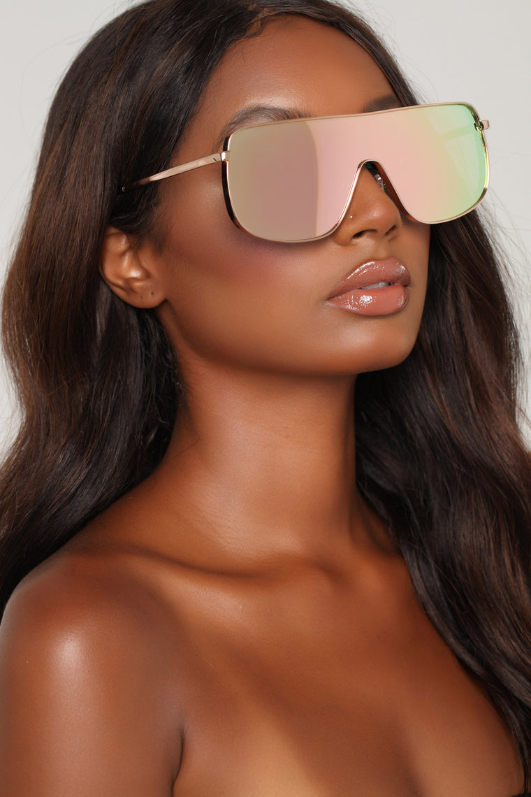 You Can't See Me Sunglasses - Rose Gold