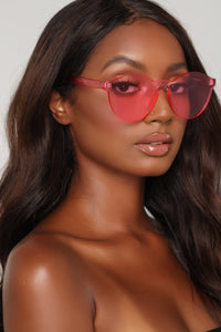 Round The World Sunglasses - Pink