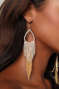 Georgina Tassel Earrings - Gold