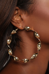 You've Got It Twisted Hoops - Gold